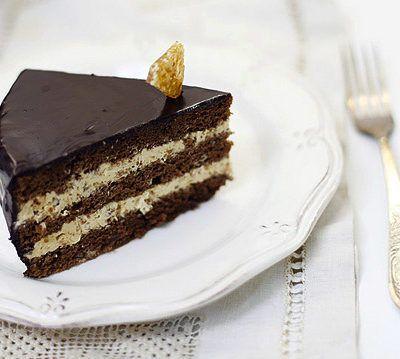 Торт прага с грильяжным кремом