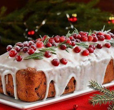 Классический темный рождественский кекс