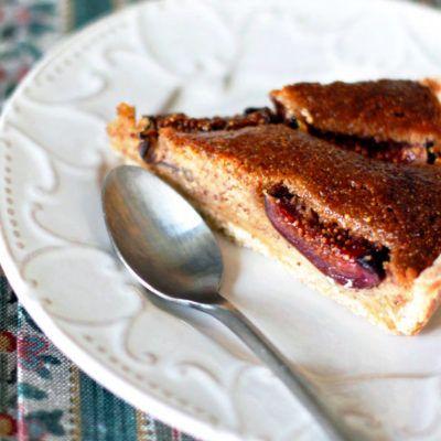 Пирог с хересом, франжипаном и инжиром