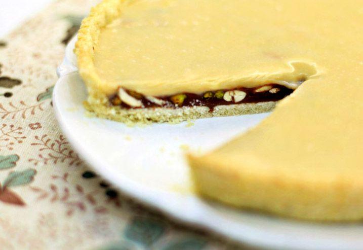 Флорентийский пирог с орехами и шоколадной ириской