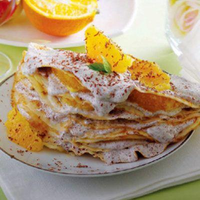 Десерт из блинов