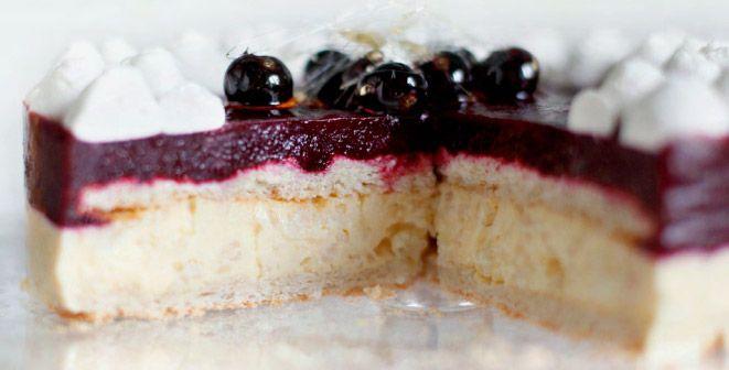 Смородиновый торт с рисовым кремом