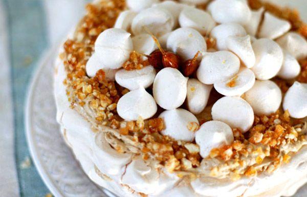 Торт-безе с кофейным кремом