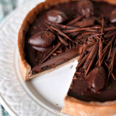 Торт с кофейным ганашем и черносливом