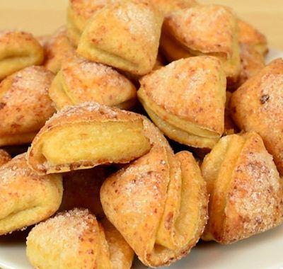 Творожные ушки (деревенское печенье)