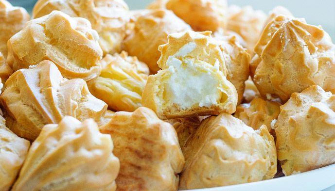 Пирожные Шу с белковым кремом