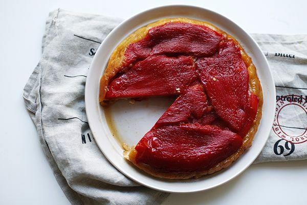 Тарт татен со сладким перцем
