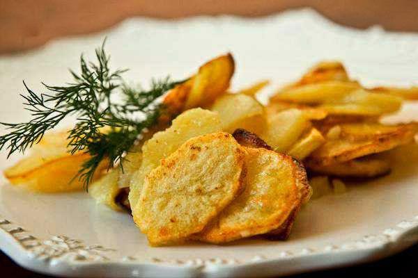 Картофель, жареный кружочками