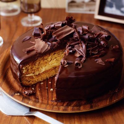 Бостонский бананово-сливочный торт