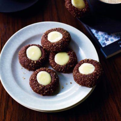 Мятное шоколадное печенье с начинкой