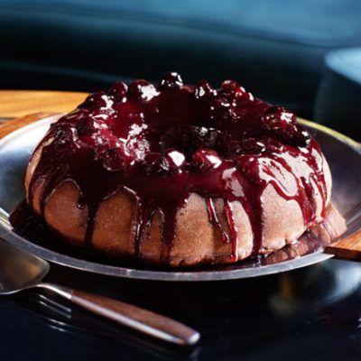 Шоколадно-вишневый пирог-чизкейк