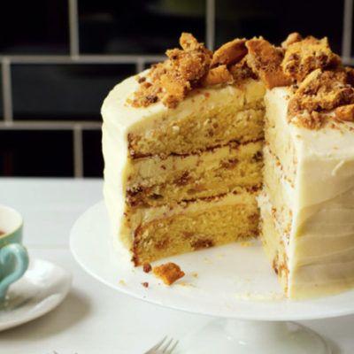 Торт с печеньем и сливками