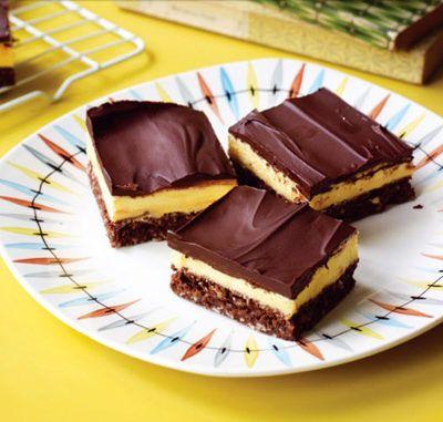 Шоколадные квадратики с заварным кремом