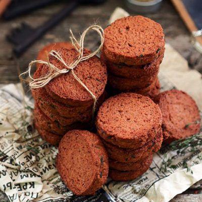 Шоколадное печенье с тимьяном и апельсином